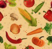 stock photo of leek  - Pattern pixel vegetables corn - JPG