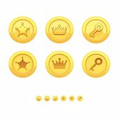 pic of gold medal  - Game icons for applications - JPG