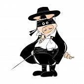 foto of zorro  - Illustration of a funny black Zorro Pig - JPG