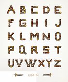 picture of viking  - Font in Viking style - JPG