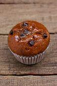 foto of chocolate-chip  - Homemade Chocolate chip muffin - JPG