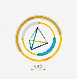 picture of pyramid shape  - Pyramid shape line design - JPG