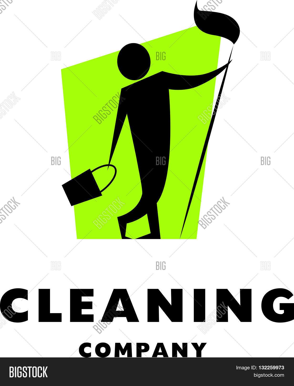 vector logo cleaning company flat vector amp photo bigstock