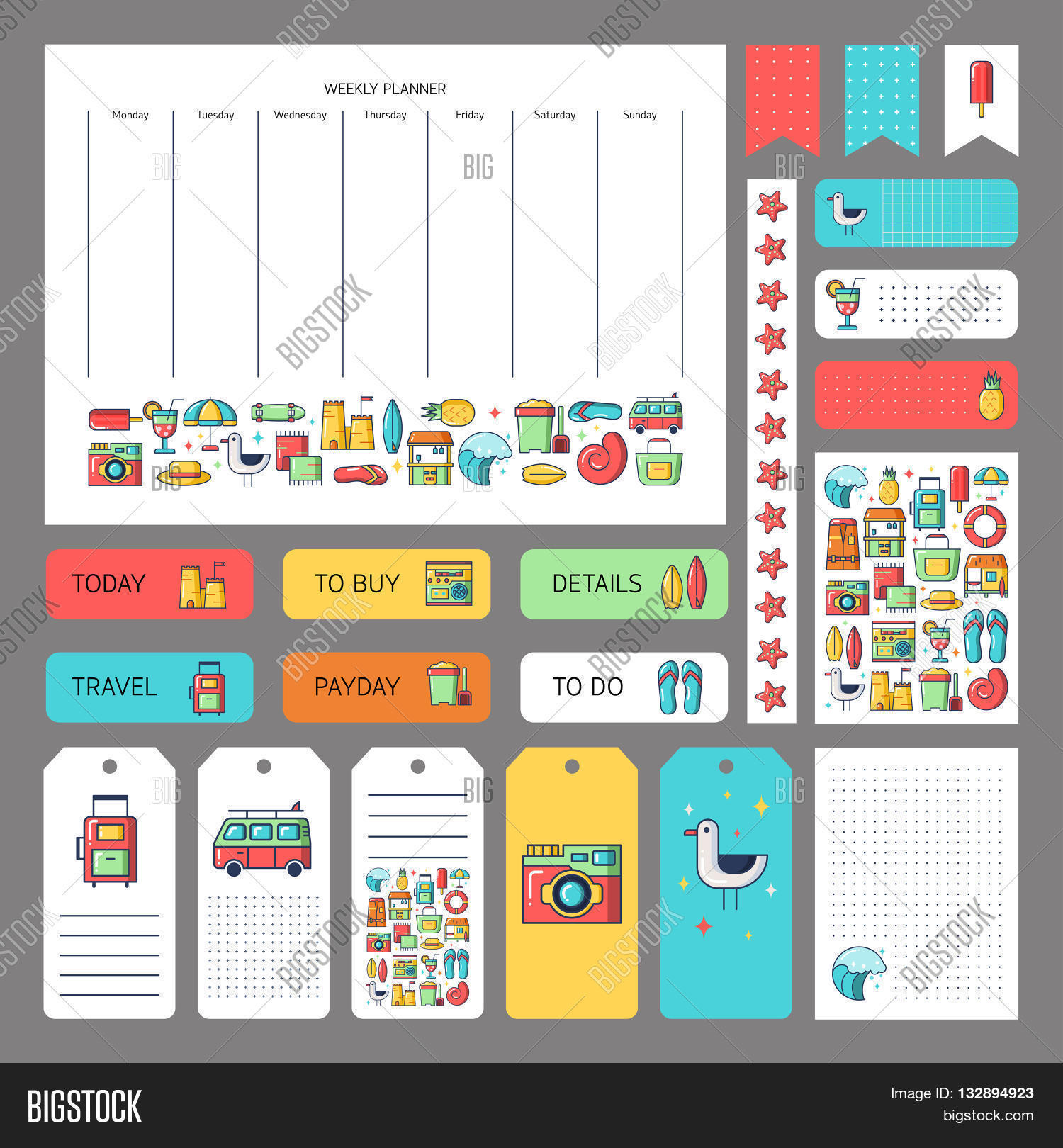 summer planner template