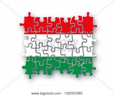 Hungary Flag Jigsaw