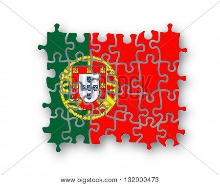 Portugal Flag Jigsaw