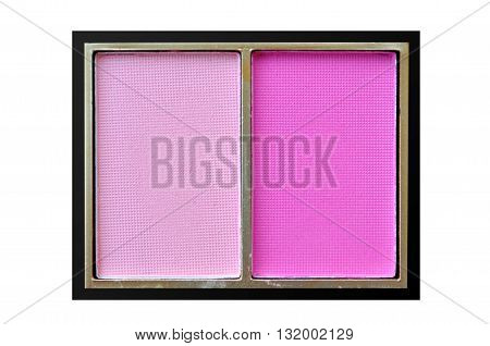 Pink Double Blush Box Isolated On White Background
