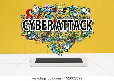 Cyber Attack Concept With Smartphone