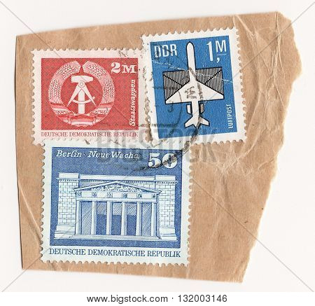 Germany GDR Circo 1970 set of postage stamps on the theme German Democratic Republic