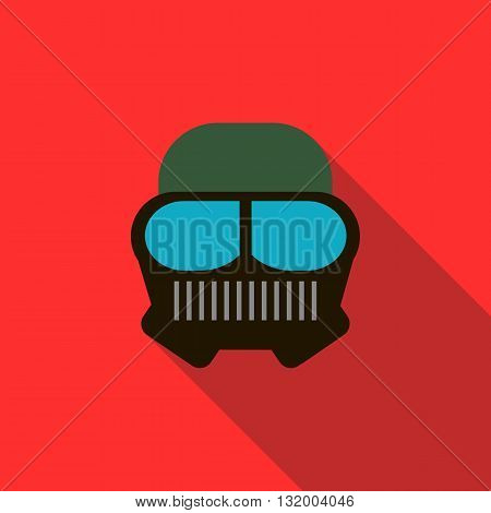 Paintball mask icon in flat style with long shadow
