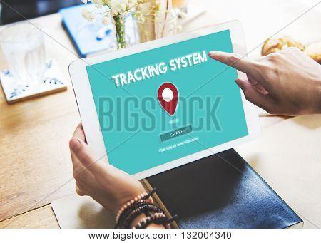 Route Map Navigation Track Places Concept