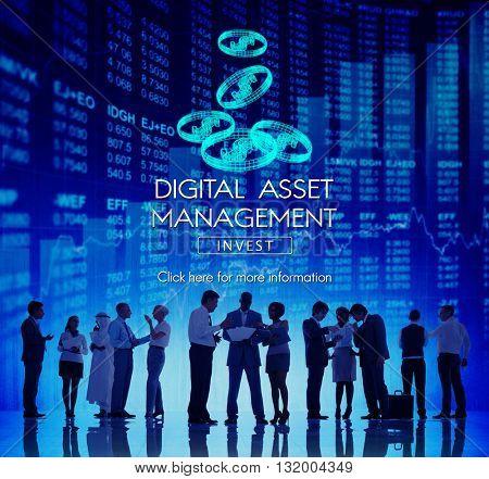 Digital Asset Management Data Information Concept