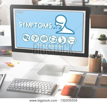 Symptoms Allergy Disorder Sickness Healthcare Concept