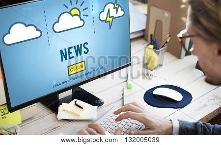 News Announcement Broadcast Report Media Concept