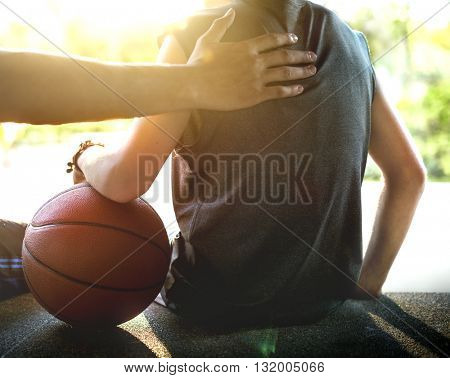 Athlete Athletic Basketball Coaching Practice Concept