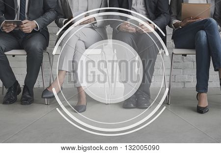 Business People Meeting Lens Graphic Concept