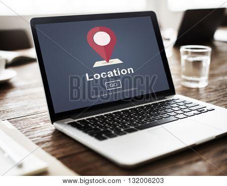 Location Marker Point Map Navigation Concept