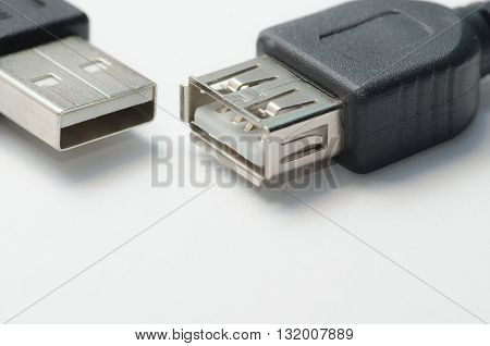 Usb-interface / Computer usb interface connectors closeup