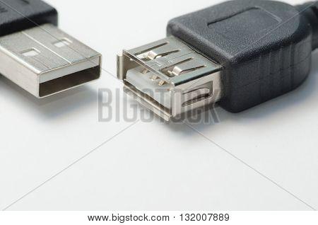 Usb-interface / Computer usb interface connectors closeup