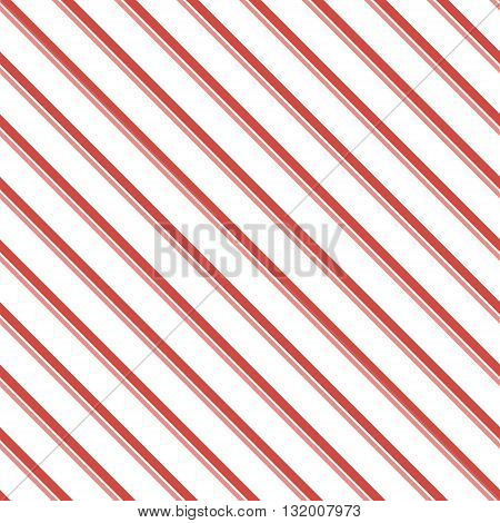 Abstract seamless striped pattern of two diagonal parallel varying thickness lines. Endless geometric print in white, red, pink colors. Beautiful contrasting background. Vector illustration