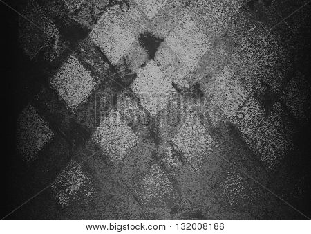 black abstract on concrete road on the street backgrounds