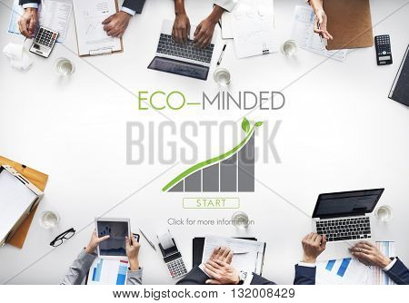 Business People Meeting Eco-minded Earth Concept