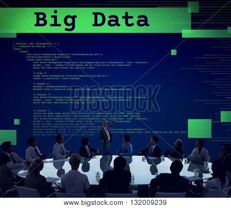 Big Data Database Digital Information Technology Concept