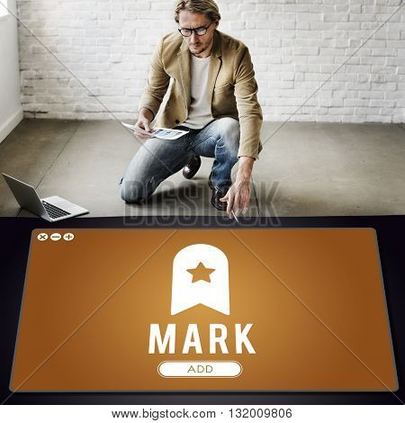 Mark Bookmark Content Web Online Management Concept