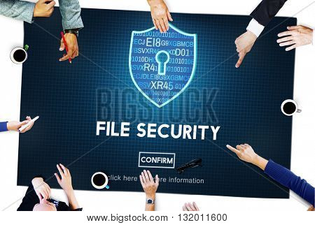 File Security Online Security Protection Concept