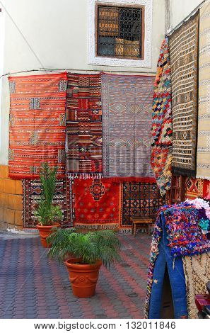 Hanging Carpets In Morocco