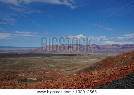 Arizona Landscape near Grand Canyon. Mountains and Valley