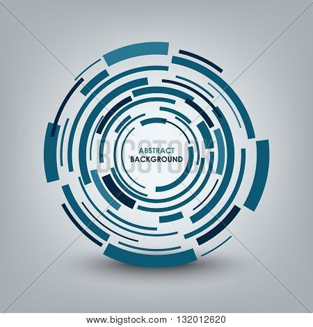 Abstract technical blue round background vector eps 10