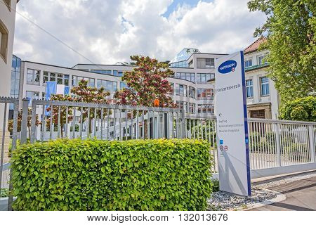 Heidenheim Germany - May 26 2016: Corporate head office of Hartmann AG a german international operative company producing medical and care products.