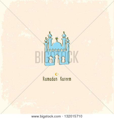 Ramadan Kareem islamic greeting background. Vector Illustration