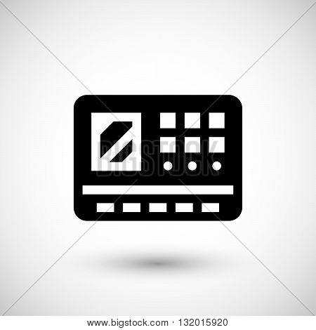 Control panel icon isolated on grey. Vector illustration