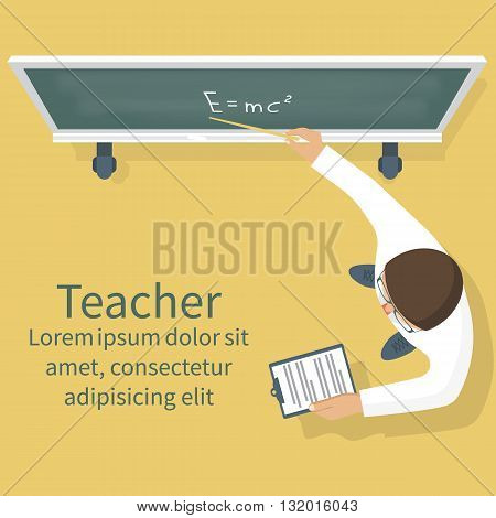 Teacher On Lesson Vector