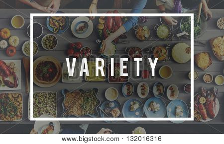 Tasty Variety Food Meal Concept