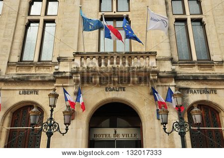 Valence France - april 13 2016 : the city hall