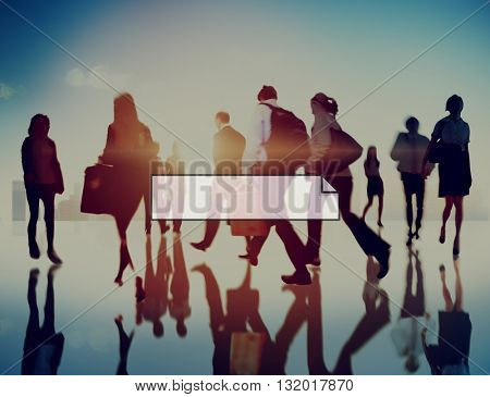Business People Rush Busy Lifestyle Concept