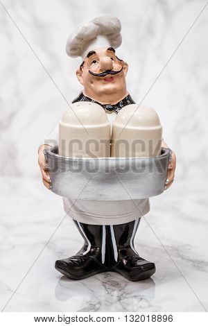 Statuette Of A Cook With Shakers