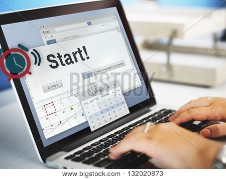 Start Beginning Forward Startup Launch First Activation Concept