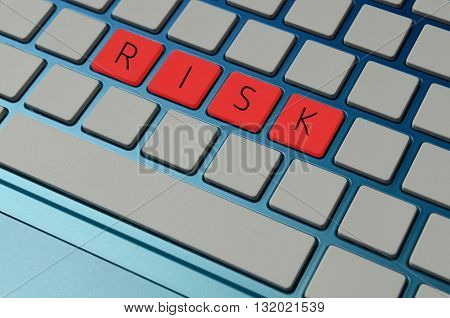 taking a risk in business concept in red