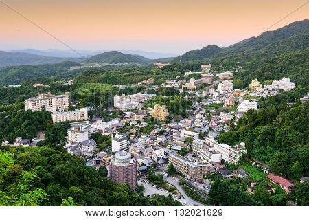 Arima Onsen, Kobe, Japan hot springs resort town.