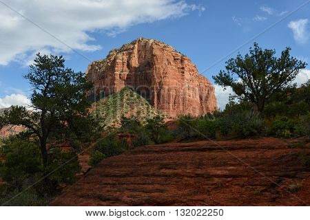 Beautiful red rock landscape image in Southwest United States in Sedona