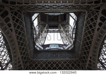 View at famous Tour Eiffel in Paris France