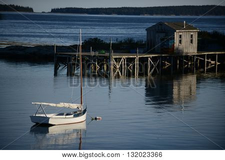 Quaint fishing village in Maine near Acadia National Park