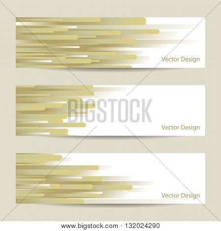 Website header or banner set with yellow striped design.