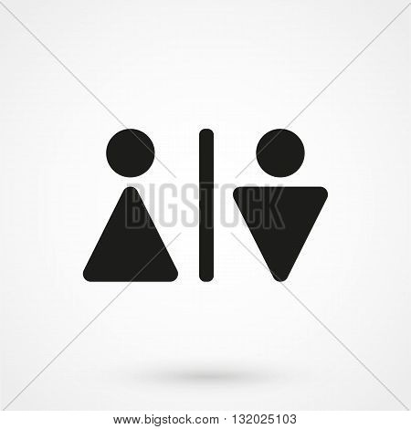 Wc Icon Vector Black On White Background