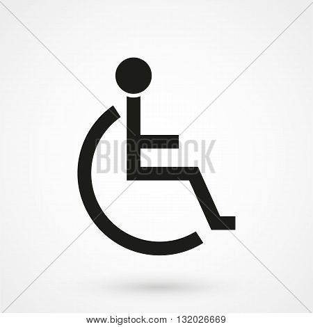 Disabled Handicap Icon Vector Black On White Background
