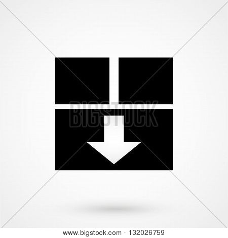 Box Icon Vector Black On White Background